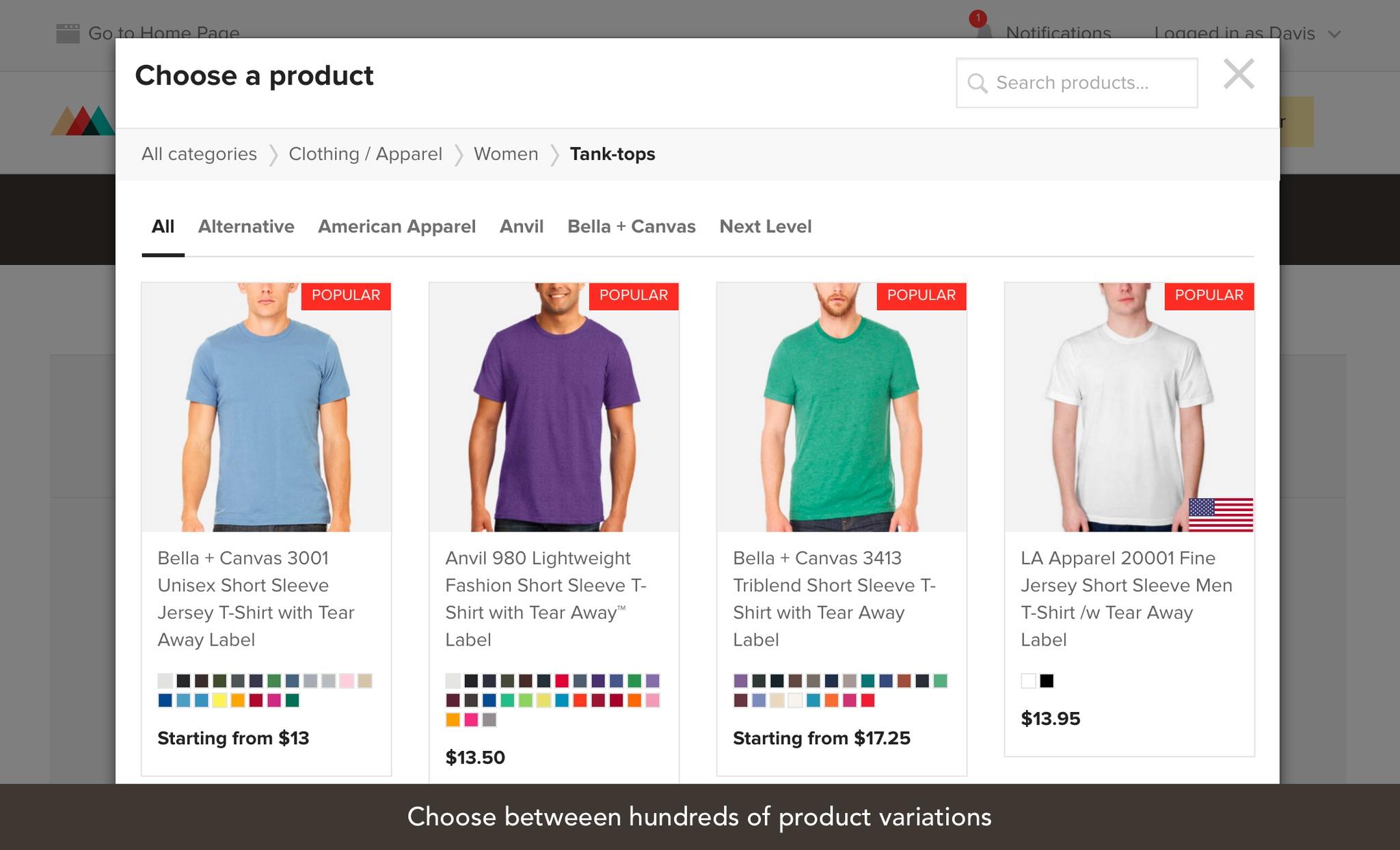 WooCommerce T-Shirt Store