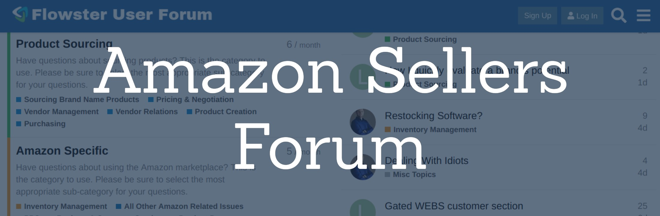 Amazon Sellers Forum